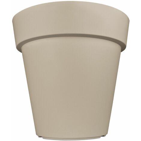 Pot de fleurs plantes jardinière XXL Lofly en plastique Cache-pot - Ø 49 cm - couleur au choix