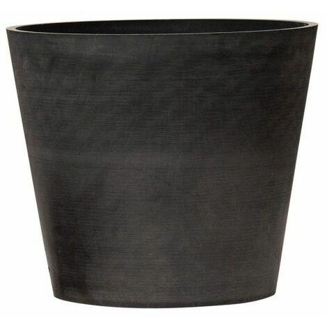 Pot de fleurs rond en plastique recyclé - Gris beton - Gris beton