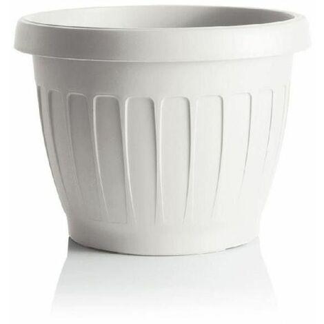 Pot de fleurs - TERRA - D 40 cm - Blanc - Livraison gratuite