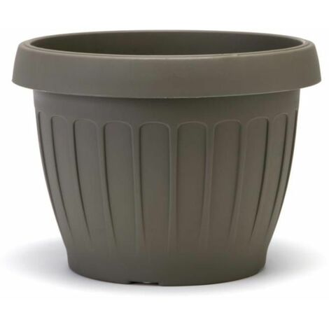 Pot de fleurs - TERRA - D 40 cm - Cappuccino - Livraison gratuite