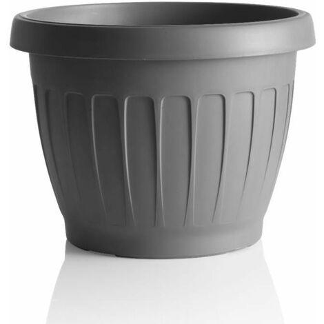 Pot de fleurs - TERRA - D 40 cm - Gris - Livraison gratuite
