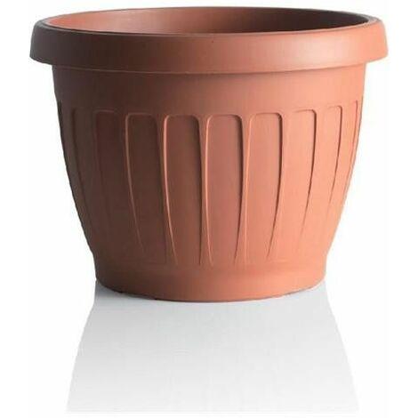 Pot de fleurs - TERRA - D 40 cm - Terracotta - Livraison gratuite