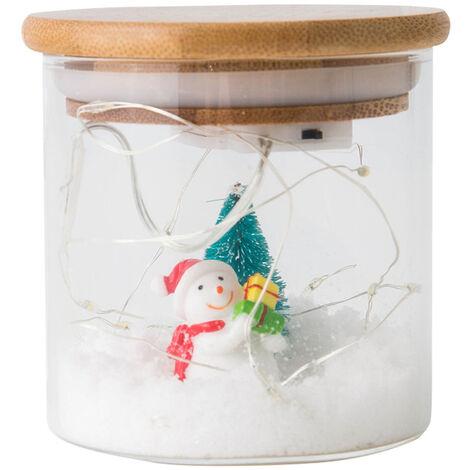 Pot de lampe de decoration de neige de No?l, borosilicate