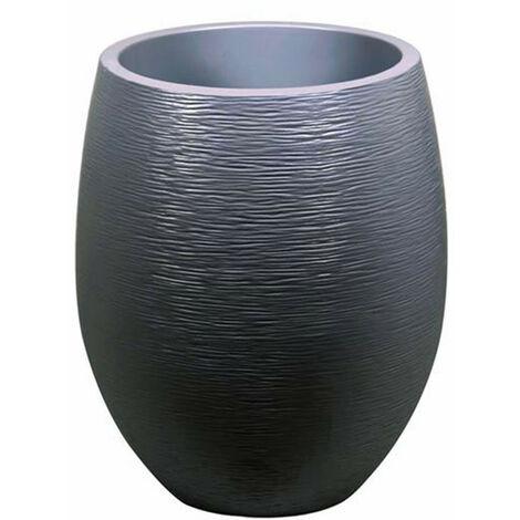 Pot Egg Graphit haut - Anthracite - 50x60cm 53L - EDA Plastiques - Intérieur et extérieur