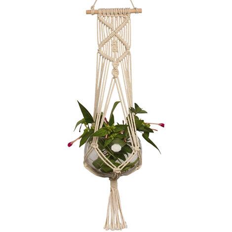 Pot Holder Macramé Plant Hanger Hanging Planter Basket Jute Rope Tressé Artisanat