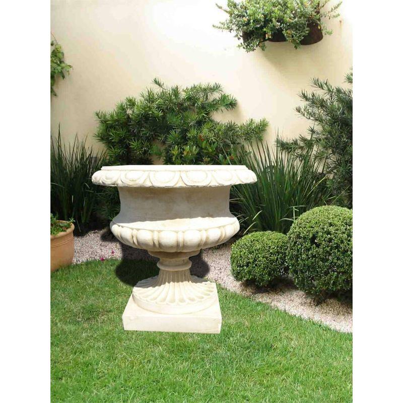 Pot jardin rond en pierre reconstituée - 1130