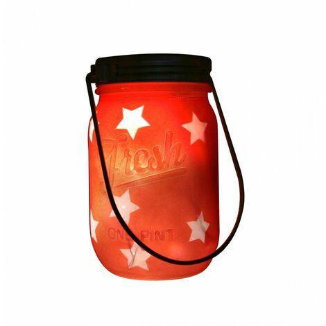 Pot lumineux - Rouge - Décoration lumineuse - Livraison gratuite