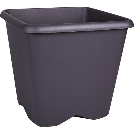 Pot plastique carré Chorus Eda - 35,6 l - Gris anthracite