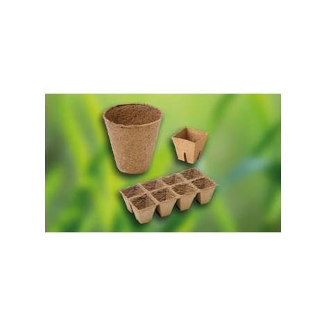 Pot rond biodégradable 16x8 cm, natur
