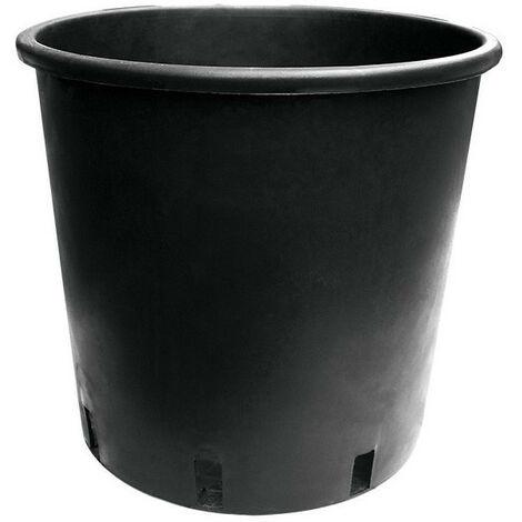 Pot rond noir 15L 25x28.5cm