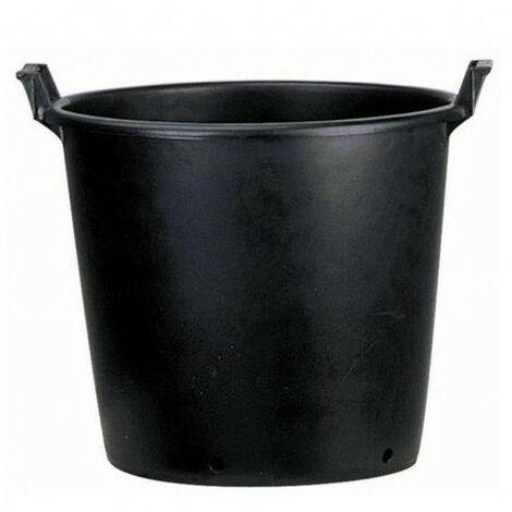 Pot rond noir à poignée 75L - Ø 56/40 x 49 cm