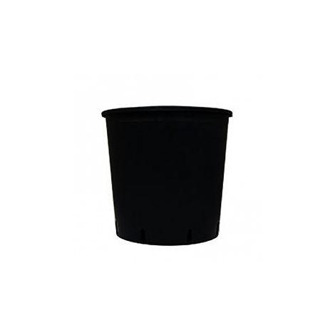 Pot rond plastique noir - 18.5L - 30x30cm