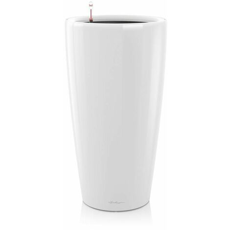 "main image of ""Pot Rondo Premium 40 - kit complet, blanc brillant Ø 40 cm"""