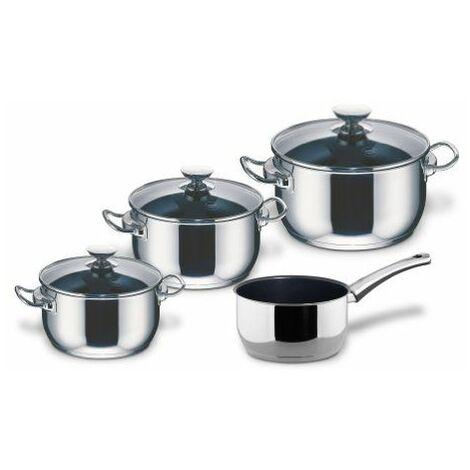Pot Set 4-Pc. Avec Couvercle Incl Casserole Induction Injoy - Berndes