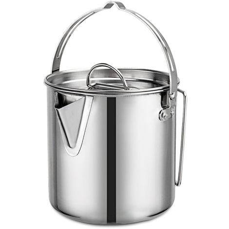 Pot Suspendu Exterieur De 1,2 L, Acier Inoxydable, Avec Couvercle