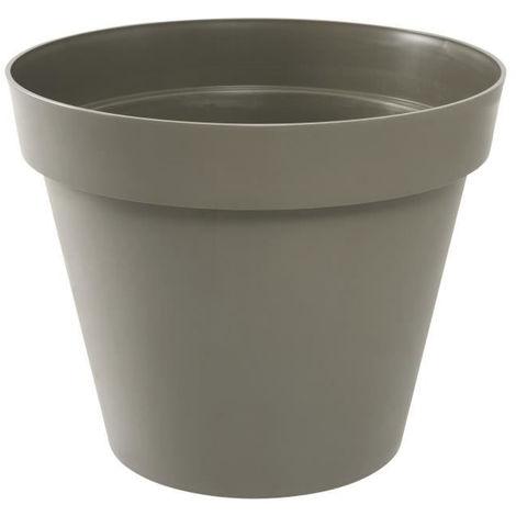 Pot TOSCANE Gris béton Ø 13,6 x 11,6 cm - 1,1 L - EDA