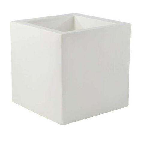 Pot VONDOM Modèle Cubo - Blanc mat - 40cm