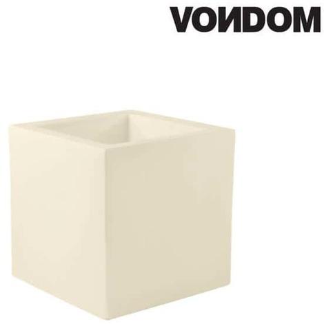 Pot VONDOM Modèle Cubo - Ecru mat - 40cm