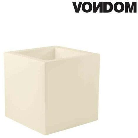 Pot VONDOM Modèle Cubo - Ecru mat - 50cm
