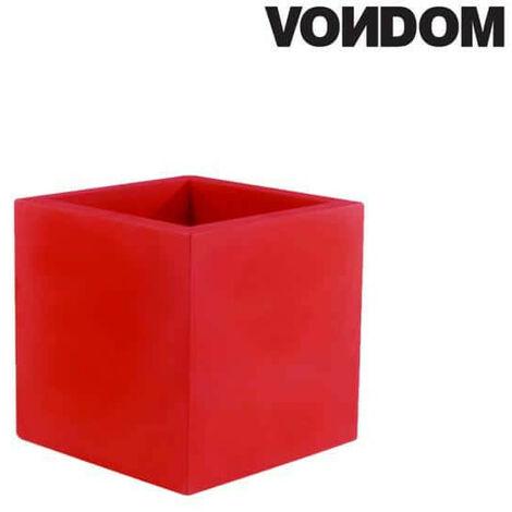 Pot VONDOM Modèle Cubo - Rouge mat - 30cm