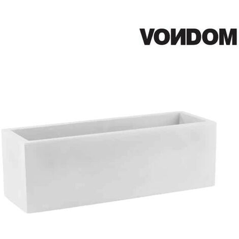 Pot VONDOM Modèle Jardinera - Blanc mat - 80cm