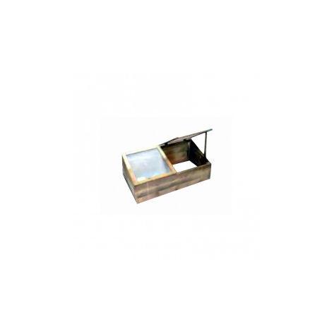 Potager en bois de pologne 100 x 50 X 50 cm - 2 vitres indépendantes en plexiglas - VG Garden