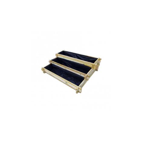 Potager en bois de pologne 113 x 88 cm - 3 Niveaux 20/30/40 cm - VG Garden