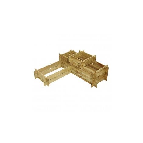Potager Manhattan System en bois de pin - Autoclave classe III - 120 x 120 cm