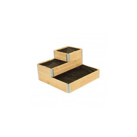 Potager Milos en bois de Mélèze - 100 x 100 x 58 cm