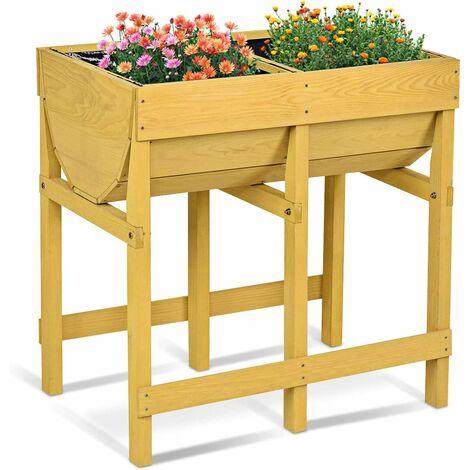 potager sur pied en bois de sapin jardini re sur lev e 70. Black Bedroom Furniture Sets. Home Design Ideas