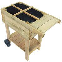 Potager sur pied en bois spécial balcon
