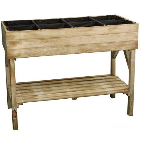 potager sur pieds en bois trait 1 bac 120x90cm. Black Bedroom Furniture Sets. Home Design Ideas