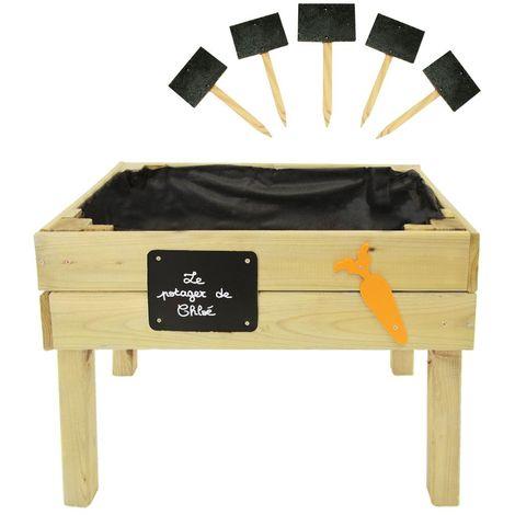 Potager sur pieds en bois traité pour enfant