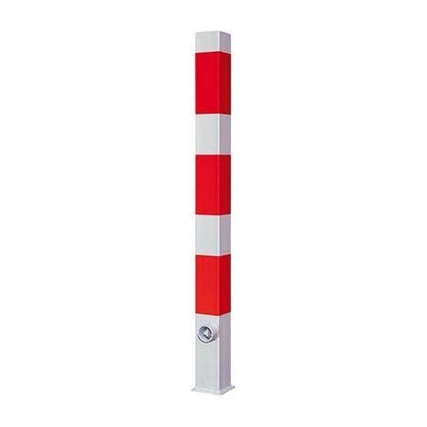Poteau 70x70 noir et rouge herausnehmbar 1400 mm