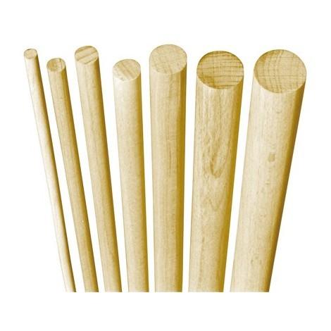 Poteau bois hetre 1 mètre rond cannelés 18 mm (Par 50)