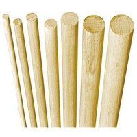 Poteau bois hetre 1 mètre rond cannelés 8 mm (Par 100)