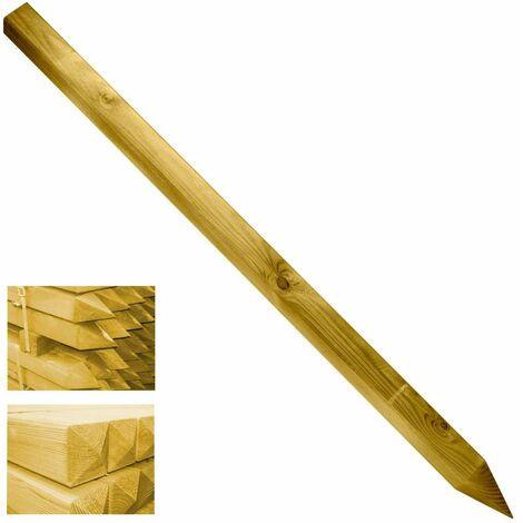 Poteau carré en bois pour Cancela et clôture 7x7x150cm