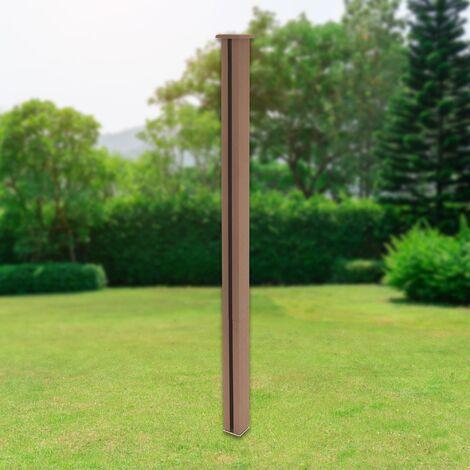 Poteau clôture de jardin en WPC marron système de connexion 185 cm ML-Design®
