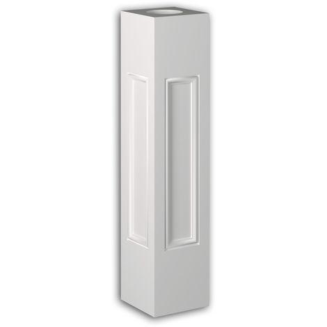 Poteau de balustrade Profhome 475101 Moulure exterieure Balustrade Élément de façade style Néo-Classicisme blanc