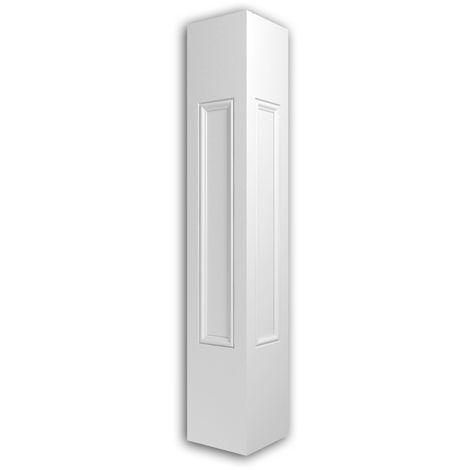 Poteau de balustrade Profhome 475201 Moulure exterieure Balustrade Élément de façade style Néo-Classicisme blanc