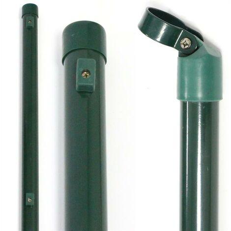 poteau de clôture de jardin 34 mm Poteau de clôture en vert RAL6005