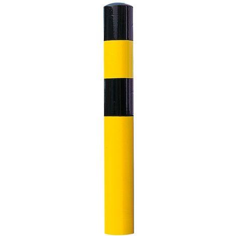 Poteau de protection - taille XL, noir / jaune - à bétonner