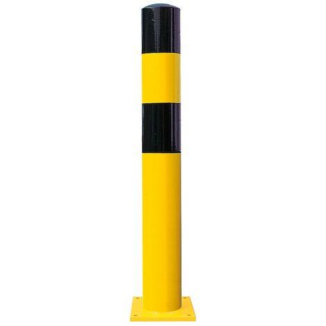 Poteau de protection - taille XL, noir / jaune - à cheviller