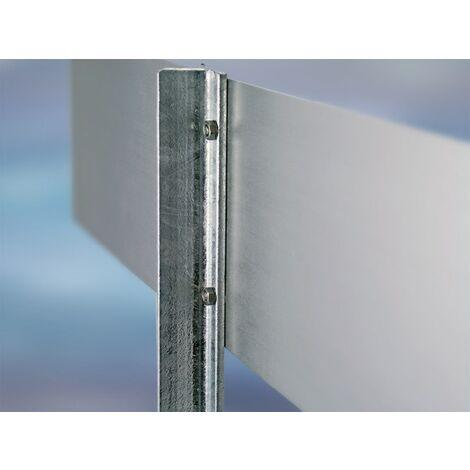 Poteau en acier avec dalle Hauteur 500 mm p. l'inst. panneaux sur les parkings