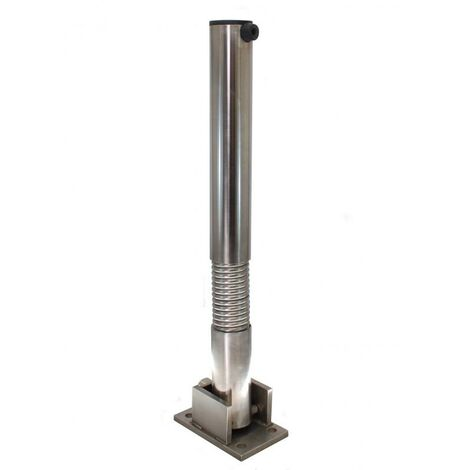 Poteau flexible rabattable 610FLEX-I INOX (clefs distinctes) acier inoxydable avec serrure intégrée