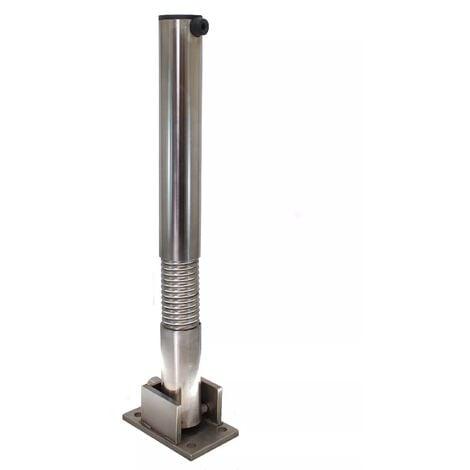 Poteau flexible rabattable 610FLEX-I INOX (s'entrouvrant) acier inoxydable avec serrure intégrée