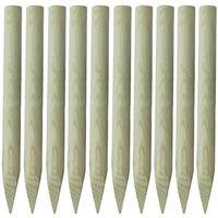 Poteau pointu de clôture 10 pcs 100 cm Bois FSC