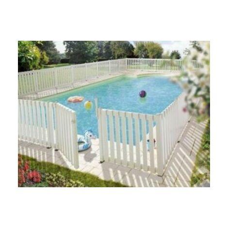 Poteau pour clôture de piscine - blanc