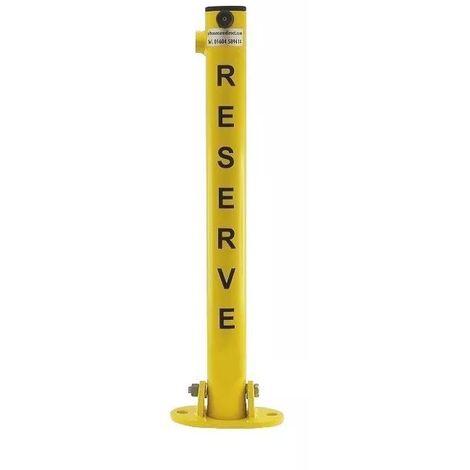 Poteau rabattable 610-Y-RESERVE JAUNE (clefs distinctes) 5kg serrure intégrée