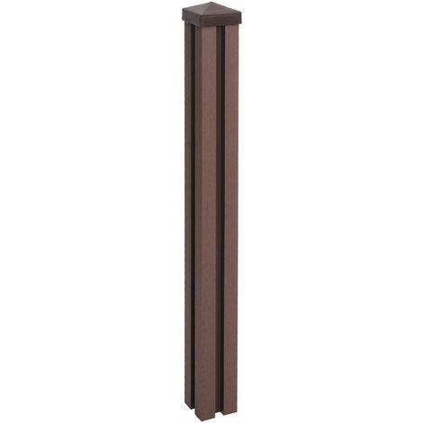 Poteau WPC Sarthe-Clôture WPC, poteau pilier, système enfichable